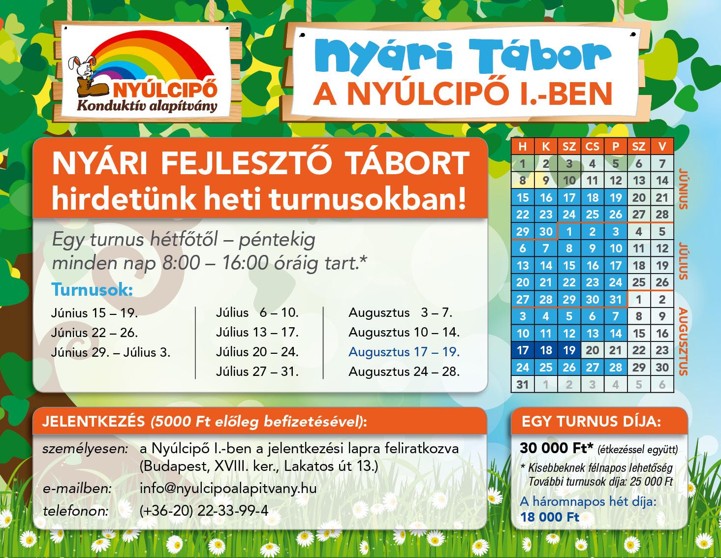 2015. Nyári Tábor - 18. kerület, Nyúlcipő 1.