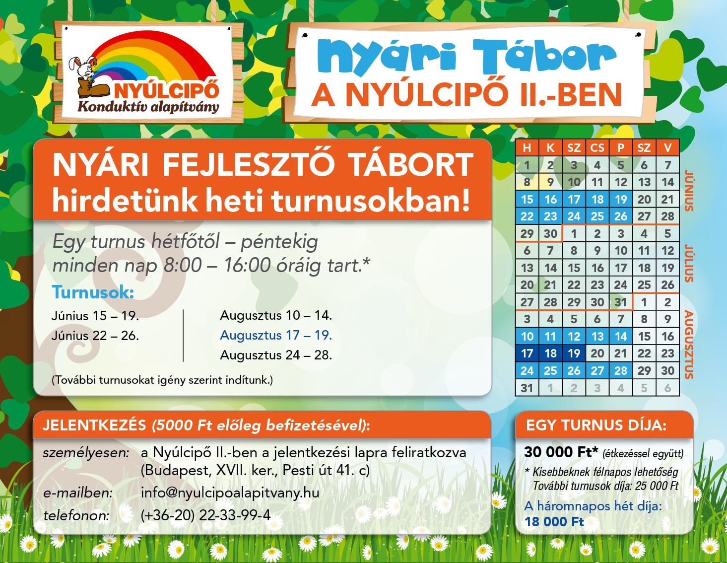 2015. Nyári Tábor - 17. kerület, Nyúlcipő 2.