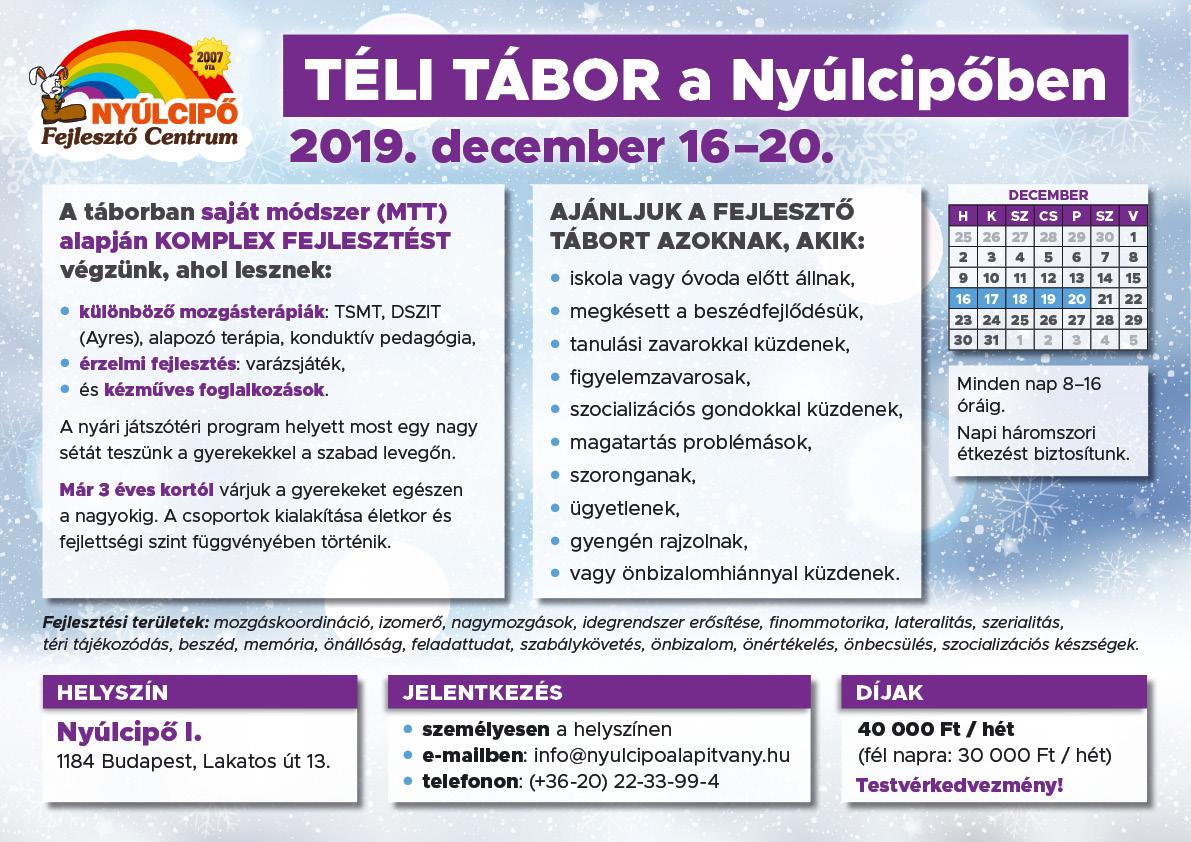 Téli tábor 2019 plakát
